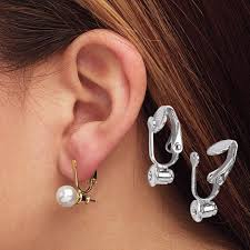 how to convert clip on earrings to pierced clip on earrings converters 6 pairs jewelry accessories