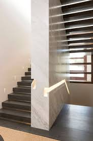 beautiful recessed sculptural handrail detail featured in this