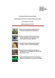 architektur studiengã nge richtlinien für die konservierung und restaurierung lrmh ext