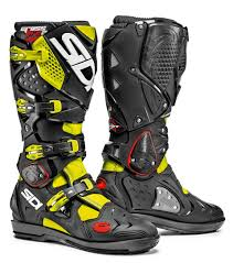 mens motorcycle riding boots sidi crossfire 2 srs offroad motorcycle boots neon yellow black