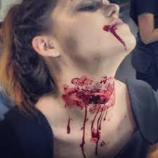 special effects halloween practice slit throat effect
