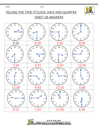 learning to tell time worksheets free worksheets library