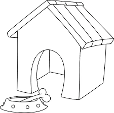 coloring page of a big dog big dog house coloring page free pages