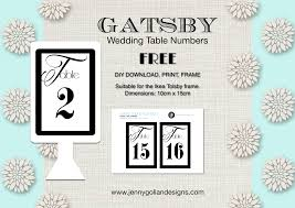 Table Numbers Wedding Table Numbers Gatsby Design Free Download