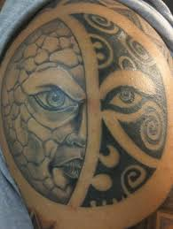 polynesian tribal sun and moon tattooimages biz