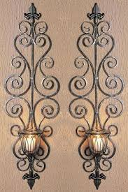 Decorative Wall Sconces Astounding Metal Wall Sconces 2017 Design U2013 Elegant Candle Wall