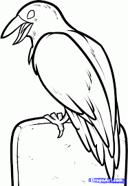Easy Halloween Pictures To Draw How To Draw A Halloween Crow Step By Step Halloween Seasonal