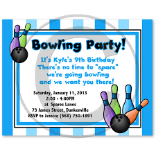 bowling invitation template bowling invites invitations