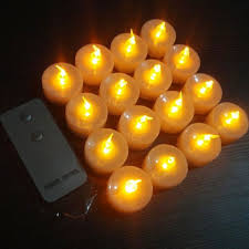 pack of 12 blinking electronic led flameless candles remote