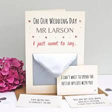 wedding messages on our wedding day secret messages card by martha brook