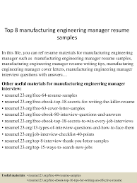 resume format engineering top8manufacturingengineeringmanagerresumesamples 150514055340 lva1 app6892 thumbnail 4 jpg cb 1431582864