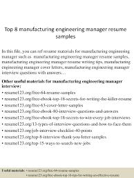 creative director resume sample top8manufacturingengineeringmanagerresumesamples 150514055340 lva1 app6892 thumbnail 4 jpg cb 1431582864