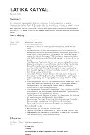 Resume Sample For Merchandiser Captivating Visual Merchandiser Resume 34 On Resume Examples With