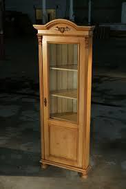 Wood Cabinet Glass Doors by Hand Crafted European Corner Cabinet With Glass Door Golden Brown