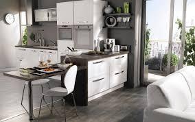 implantation cuisine ouverte agencement cuisine ouverte avec modele de cuisine