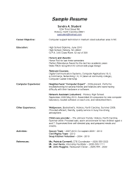 high school resume resume high school resume