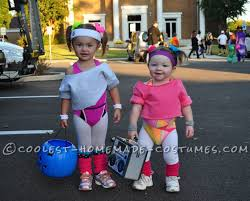 Boo Monsters Inc Halloween Costume by Cutest 80 U0027s Workout Girls Couple Costume For Toddlers Halloween