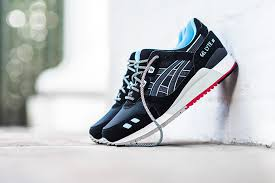 amazon black friday deals on asics shoes asics gel lyte iii u201cblack crystal blue u0026 red u201d street sneakers