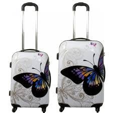 koffer design top design trolley koffer set 2 tlg 4 rollen mod butterfly 119