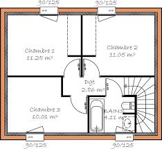 plan maison etage 3 chambres plan etage chambres 36356 sprint co