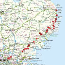 Map With Pins A12 Swim Journey June 2016 Imogen U0027s River Swims