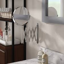 bathroom shaving mirrors wall mounted wall mounted makeup shaving mirrors you ll love wayfair