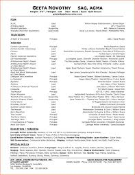 musical theatre resume exles theater resume sle unique musical theatre resume exle