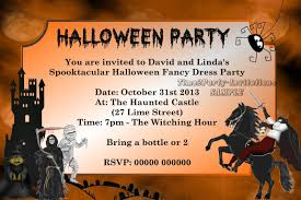 personalised halloween fancy dress party invitations hal des 4