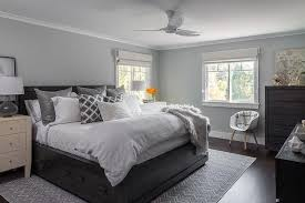black and gray bedroom gray and black bedroom with black bed with drawers transitional