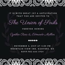 black wedding invitations inspirational purple and black wedding invitations for purple