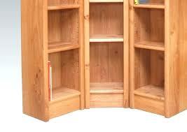 Corner Bookcase Oak Small Corner Bookshelves Corner Bookcase Simply White Transitional