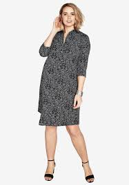 silky shirt dress plus size clearance dresses roamans