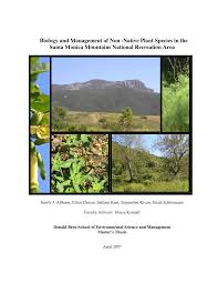 native plant species biology and management of non native plant species in the santa
