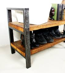 reclaimed wood bench u0026 shelf home furniture what we make