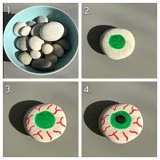 painted stones u2013 eyeballs for halloween painted stones and