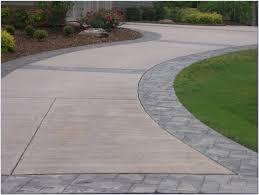 Colored Concrete Patio Pictures Stamped Concrete Patio Vs Pavers Patios Home Design Ideas