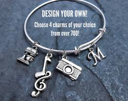 customized charms charm bracelets etsy