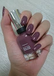 sally hansen complete salon manicure plum u0027s the word 280