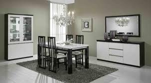 chaises s jour chaise de sejour cromo laque bicolore noir blanc