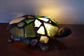 furniture marvelous stained glass turtle lamp new used stained