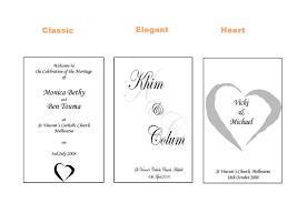 Catholic Wedding Booklet Weddings Order Of Service Booklets
