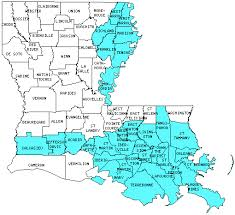 louisiana map with counties louisiana counties visited with map highpoint capitol and facts