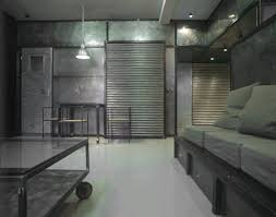 Industrial Interior Design by This Room Uses Lots Of Industrial Materials For Everything From