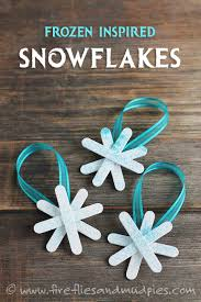 frozen inspired snowflake ornaments fireflies and mud pies