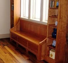 Bookshelf Bench Handmade Cherry Bench And Bookshelf Cabinetry By Stratton Creek