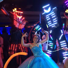 san antonio party rentals the 9 foot laser shooting robots that partiers in san