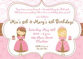100 princess invitation template first birthday invitations