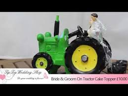 tractor cake topper groom on tractor cake topper from tip top wedding shop