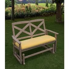 harper blvd reseda teak outdoor glider bench free shipping today