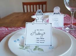 diy place cards diy place cards with personalised characters how to make a place